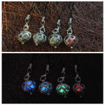 Glow In The Dark Hollow Out Heart Shape Luminous Keychain Key Ring Keychain