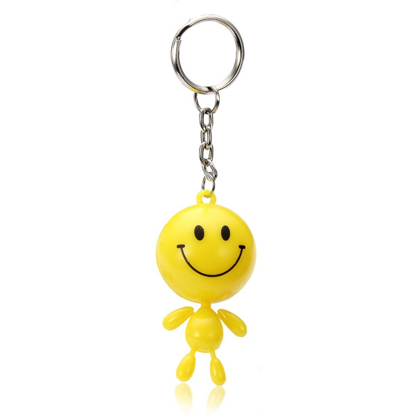 Lovely Yellow Smiling Face Key Chain Creative Pendant Key Ring Keychain