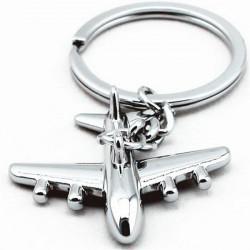 Men Mini Plane Model Zinc Alloy Aircraft Key Chain Jewelry Gift