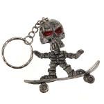 Skateboard Skull Rubber Key Chain Creative Purse Bag Keyring Keychain