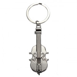 Violin Fiddle Model Keychain Instrument Keyring Metal Key Chain