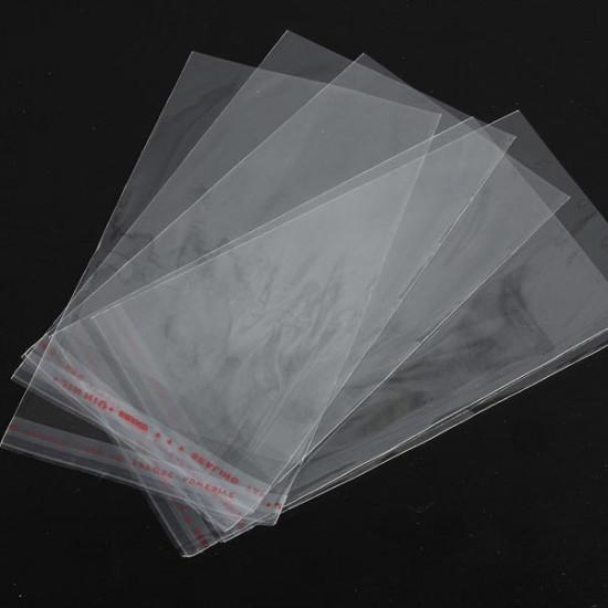 100PCS Clear Jewelry Earrings Rings Seal Plastic Packing Bag 2021