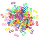 100Pcs Clear Colorful C Or S Clips For DIY Loom Rubber Band Tool 2021