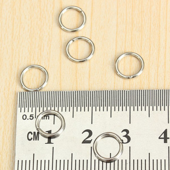 100Pcs Open Jump Rings Connectors DIY Jewelry Craft Gold Silver Bronze