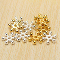 100Pcs Silver Gold 8mm Daisy Flower Spacer Beads DIY Jewelry Findings