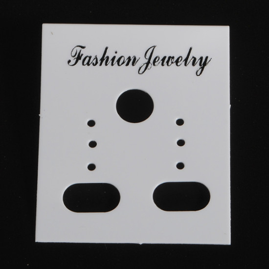 100Pcs White Earring Display Stand 2021