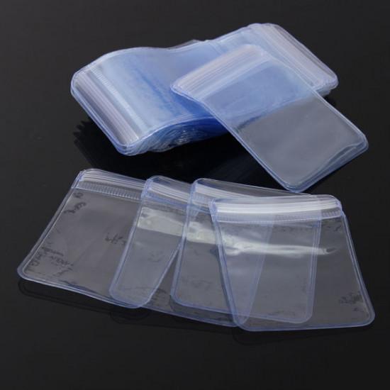 100Pcs Ziplock Zip Reclosable PVC Clear Plastic Bags 50X50mm 2021