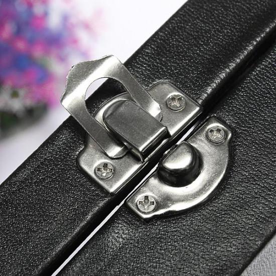 100 Slots Glass Lid Black Ring Earring Storage Display Jewelry Tray Showcase 2021
