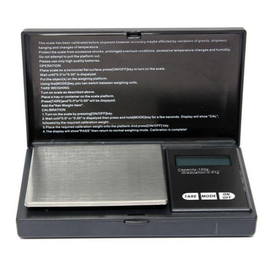 100g x 0.01g Electronic Mini Pocket Diamond Jewelry Digital Scale 2021