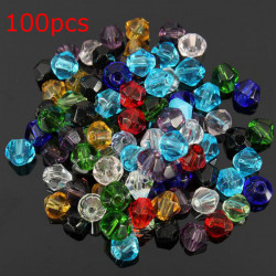 100pcs 4mm Glass Crystal Bicone Loose Beads Jewelry Making
