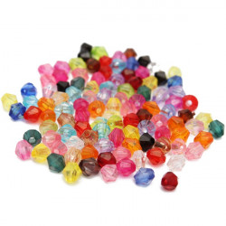 100pcs Mixed Color 4mm Glass Crystal Bicone Loose Beads Jewelry Making