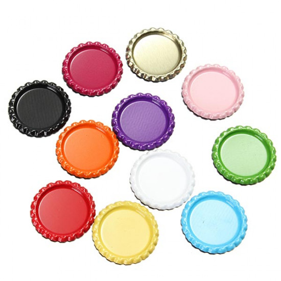 10Pcs Colorful DIY Flat Bottle Cap Time Gem Cap DIY Jewelry Craft 2021