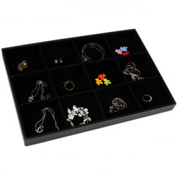 12 Grids Jewelry Display Storage Box Ear Pin Organizer Holder Case