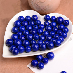 1Pc 6A Natural Round Lapis Lazuli Bead 4-12mm DIY Jewelry