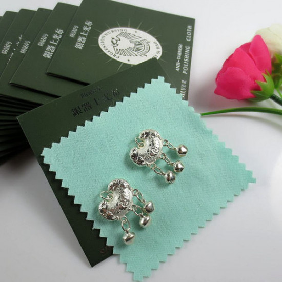 1Pc Sterling Silver Polishing Cloth Jewelry Cleaner 8x8cm 2021