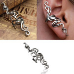 1pc Punk Silver Rhinestone Wrap Ear Clip Cuff Earring Unisex Men Jewelry