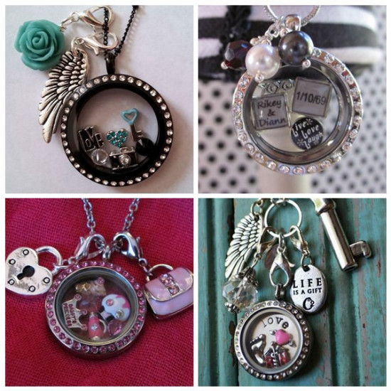 20Pcs Mixed Type Lobster Clasp Floating Locket Charms Dangles Pendants 2021