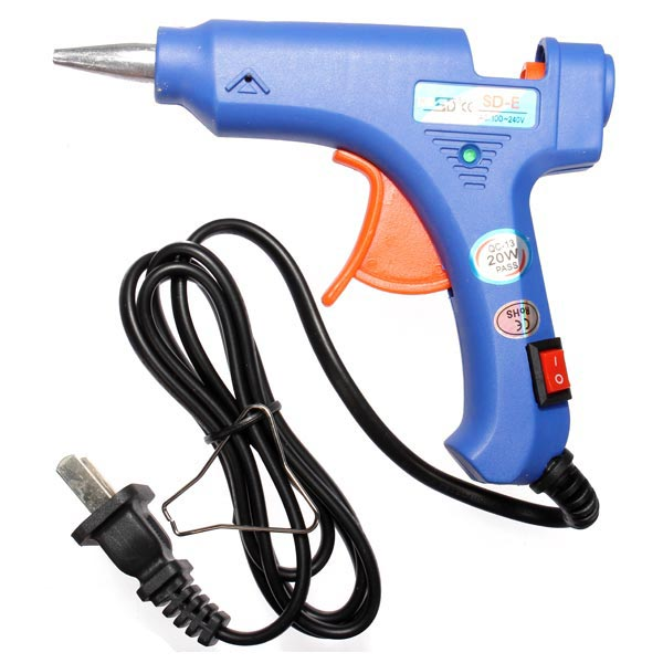 20W Blue Mini Heating Hot Melt Glue Crafts Repair Tools Jewelry Design & Repair