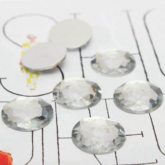 20pcs 20mm Acrylic Clear Half Round Rhinestone Flatback DIY Decoration 2021