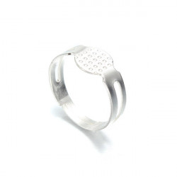 20pcs Silver Plated Ring Blanks