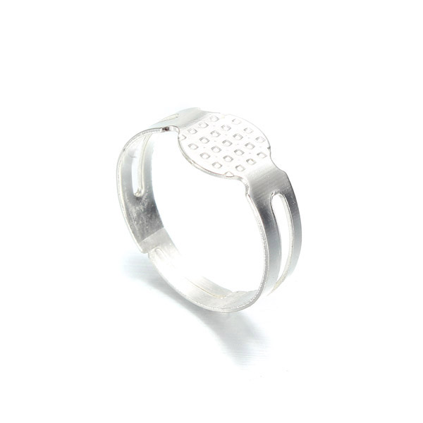 20pcs Silver Plated Ring Blanks Jewelry Design & Repair