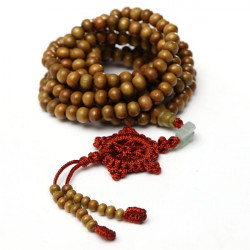 216 Sandalwood Buddhist Buddha Prayer Bead Mala Necklace Bracelet