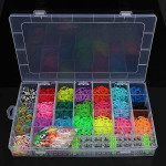 22 Colors Rubber Loom Bands DIY Bracelet Making Kit Set With Clips Jewelry Design & Repair