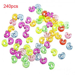 240pcs Colorful C Or S Clips For DIY Loom Rubber Band Bracelet