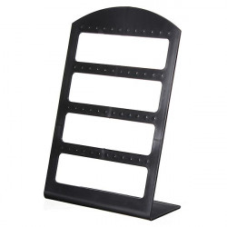 24 Pairs Earrings Black Plastic Jewelry Display Stand Holder Show Case