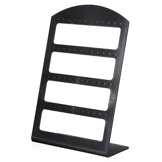 24 Pairs Earrings Black Plastic Jewelry Display Stand Holder Show Case 2021
