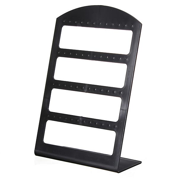 24 Pairs Earrings Black Plastic Jewelry Display Stand Holder Show Case Jewelry Supplies