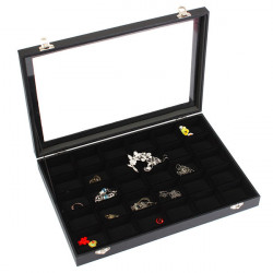 30 Grids Jewelry Tray Storage Box Necklaces Earrings Bracelets Showcase