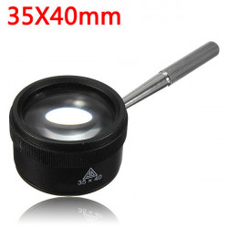 35X40mm Jewelry Optical Glass Handle Loupe Magnifier Watch Magnifying