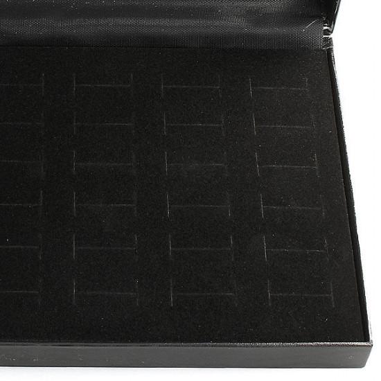 36 Slots Black Rings Organizer Display Showcase Jewelry Box 2021