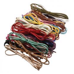 3mm Multicolor Leather Cord Suede Lace DIY Making Bracelets Necklace