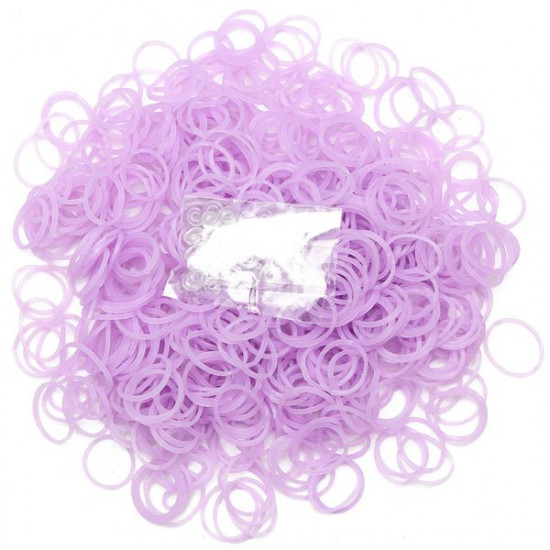 600Pcs Colorful Jelly Loom Rubber Bands With Clips DIY Kids Bracelet 2021
