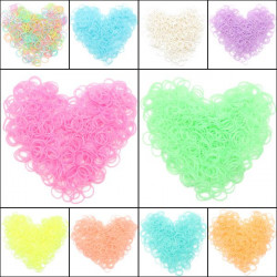 600Pcs Colorful Jelly Loom Rubber Bands With Clips DIY Kids Bracelet