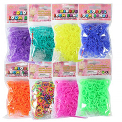 600Pcs Colorful Jelly Loom Rubber Bands With Clips Hook DIY Bracelet