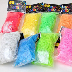 600pcs Colorful Loom Rubber Bands DIY Kid Bracelet With 24pcs Clips