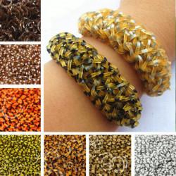 600pcs Leopard Rubber Bands DIY Bracelet Craft With Clip Hook