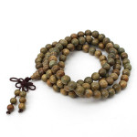8mm 108 Green Sandalwood Buddhist Prayer Bead Mala Necklace Bracelet Men Jewelry
