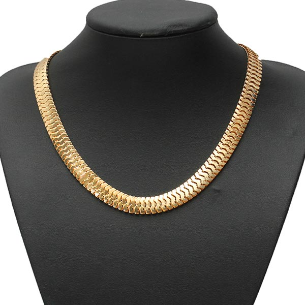 Bib Silver Gold Thick Snake Link Chain Necklace Mens Womens Jewelry