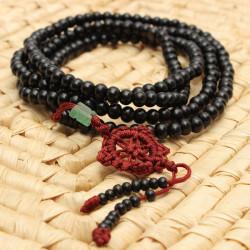 Black Sandalwood Buddhist Buddha Multi Chain Beads Bracelet Necklace