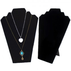 Black Velvet Easel Necklace Earrings Jewelry Display Stand