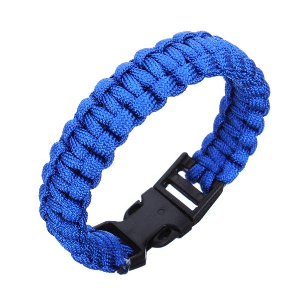 Braided Paracord Survival Bracelet Plastic Buckle Bracelet