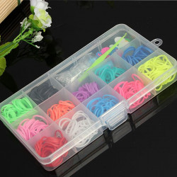 Colorful Rubber Bands DIY Bracelet Loom Making Kit Set With Charms