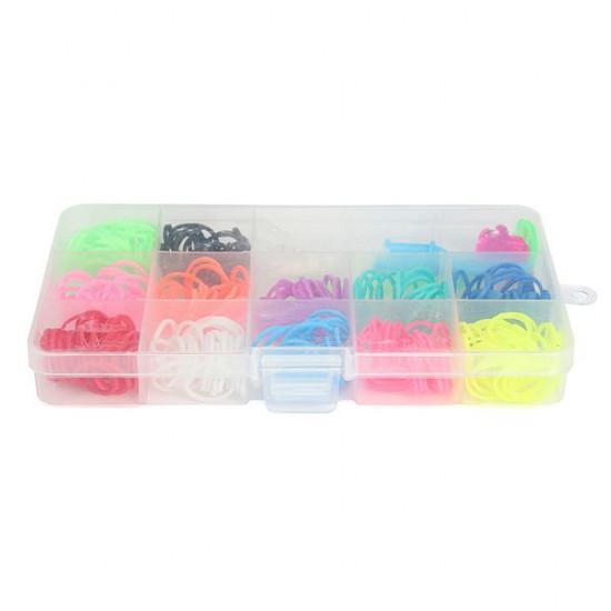 Colorful Rubber Bands DIY Bracelet Loom Making Kit Set With Charms 2021