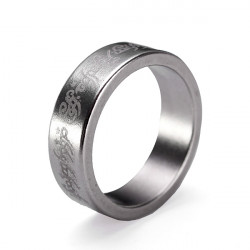 Engraved Strong Magicians Magnetic Ring Stainless Steel Magic Prop