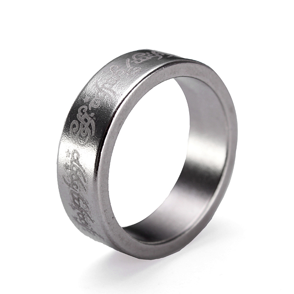 Engraved Strong Magicians Magnetic Ring Stainless Steel Magic Prop Men Jewelry