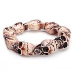Halloween Punk Resin Skull Elastic Bracelet Jewelry For Men